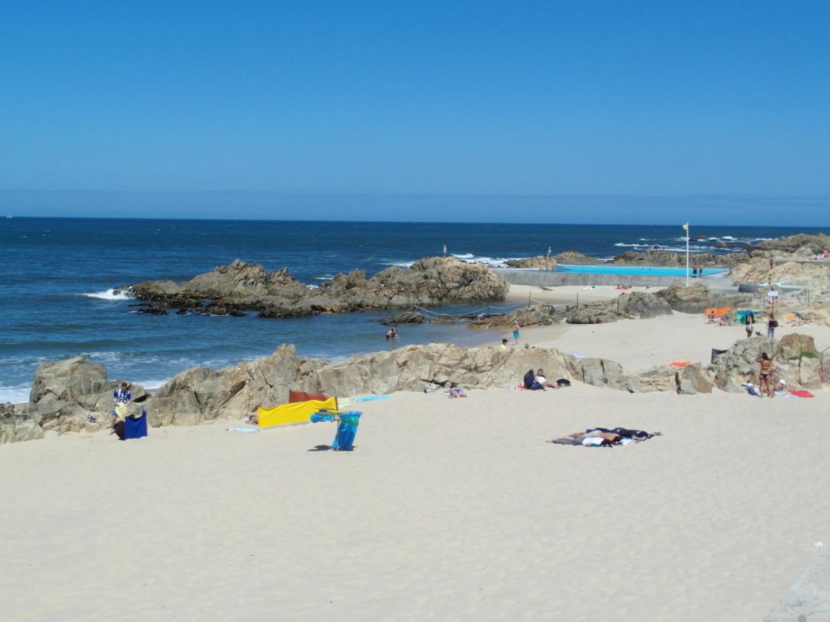 Praia de Leca da Palmeira.