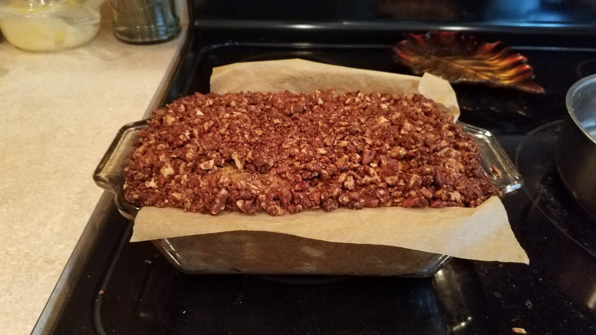 In the loaf pan, I ended up having to cook it for almost 3 hours. It was delicious, but I would rather spread it much thinner and cook it for more like 30-40 minutes instead. I'll be making it again and updating my recipe.
