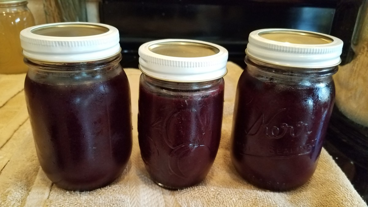 Cherry and Black Grape Jam in the Crockpot