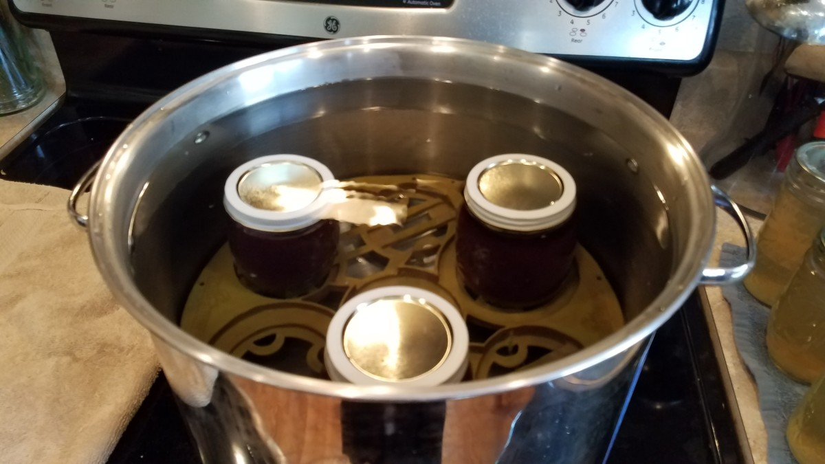 Fill your canner with water to a couple inches above your jars.