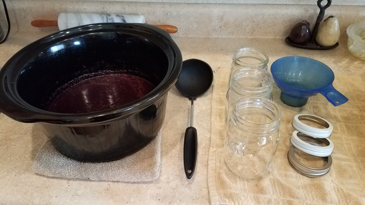 Set up your canning station with your water bath canner.