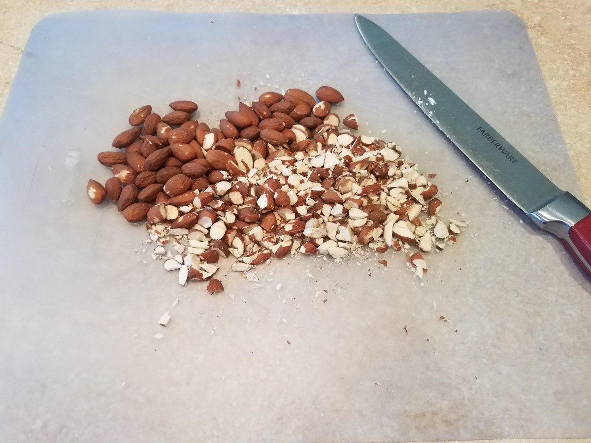 Chop your nuts and add them in to your mixture.