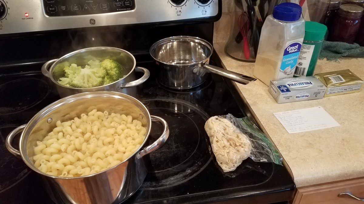 When they are done, make your alfredo sauce.