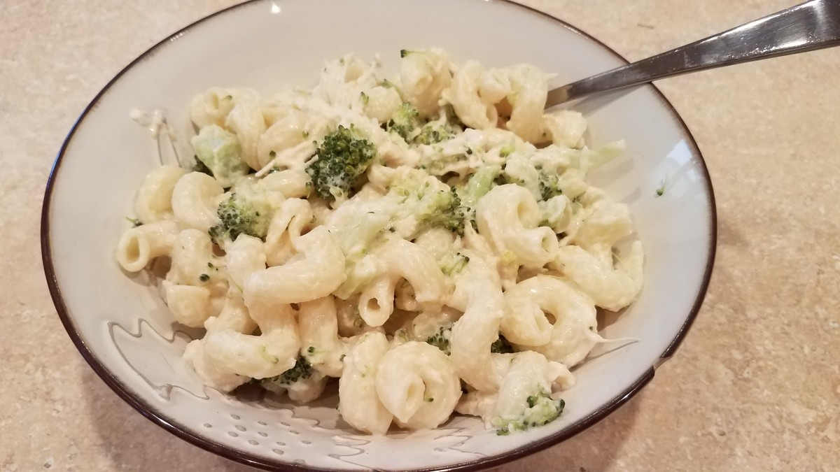 Clean Eating Chicken Broccoli Alfredo Pasta