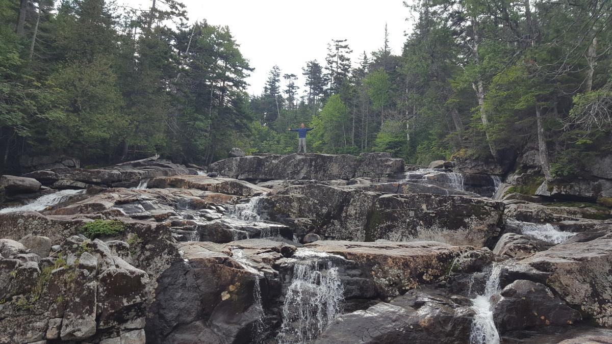Kory on the falls