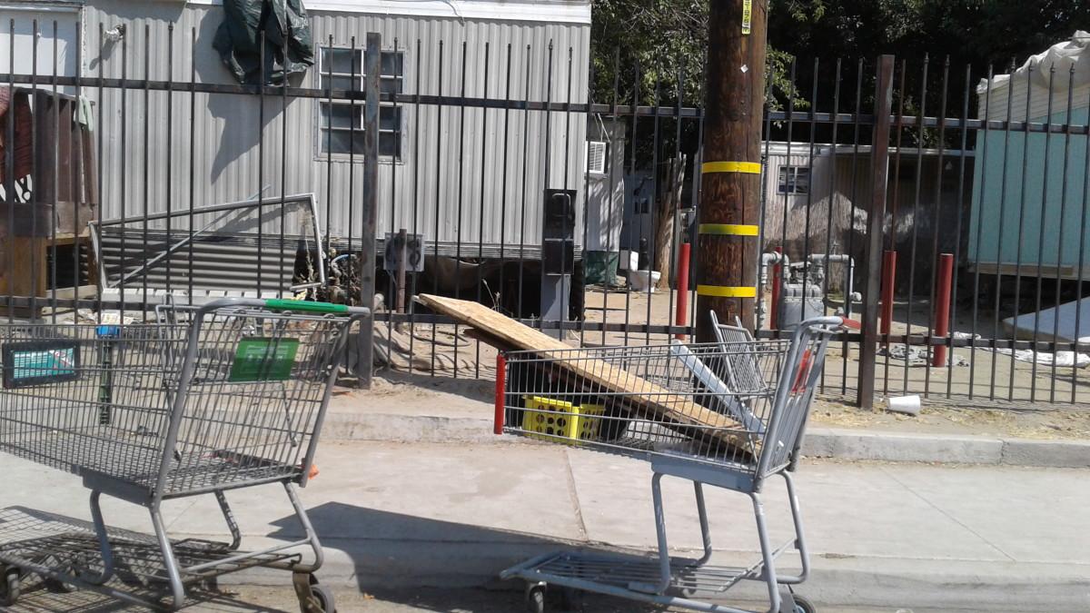 Goods left in a cart