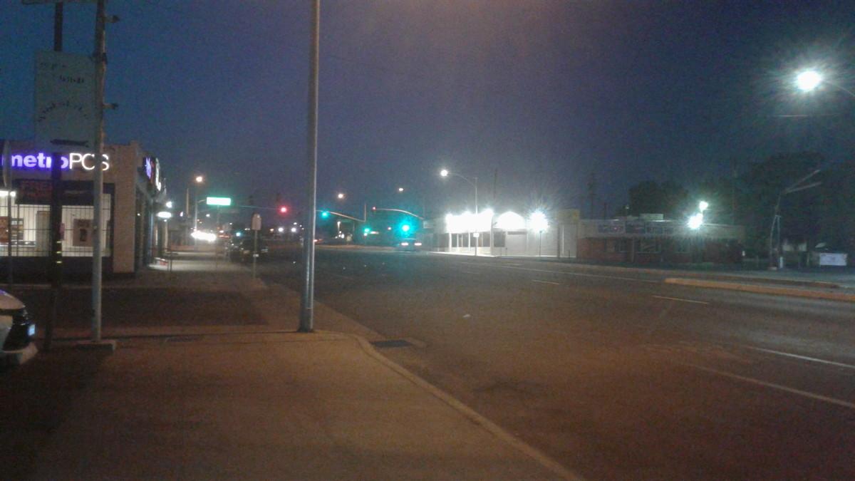 Night ride on Chester Avenue