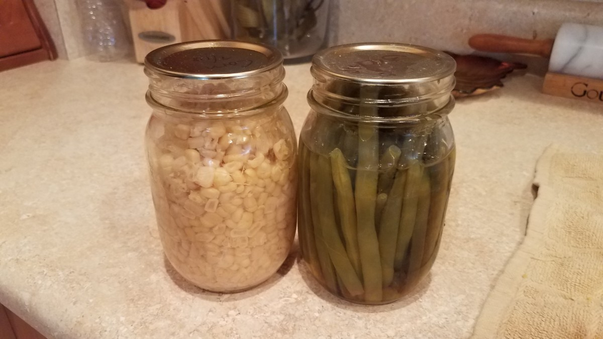 Time to add your corn and green beans.