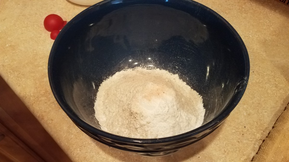 Add all of your dry biscuit ingredients to a bowl.