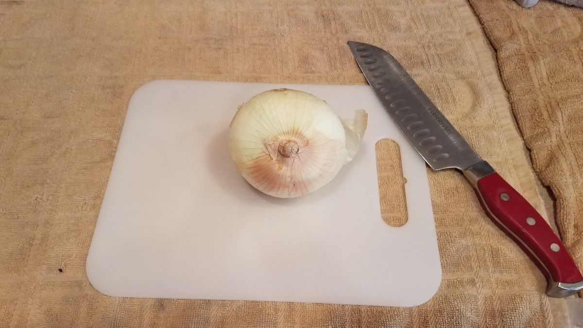 Chop your onion.