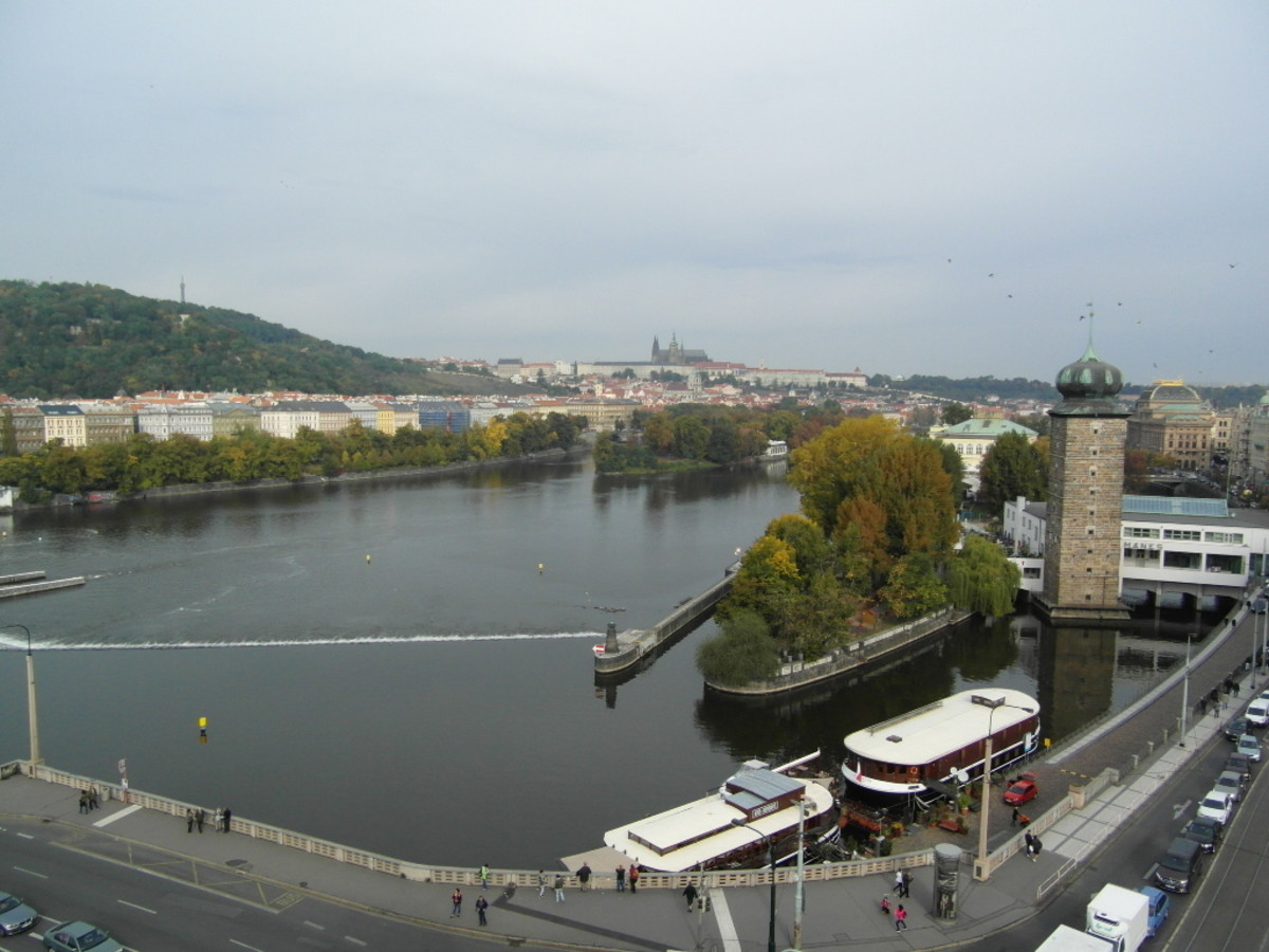 The view from the terrace of The Dancing House.