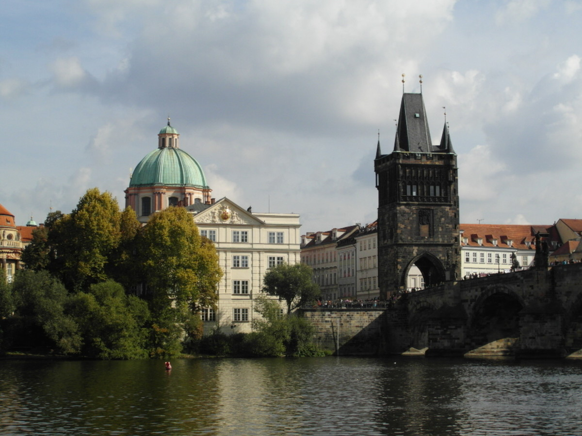Church of St. Francis from the River Vltava.