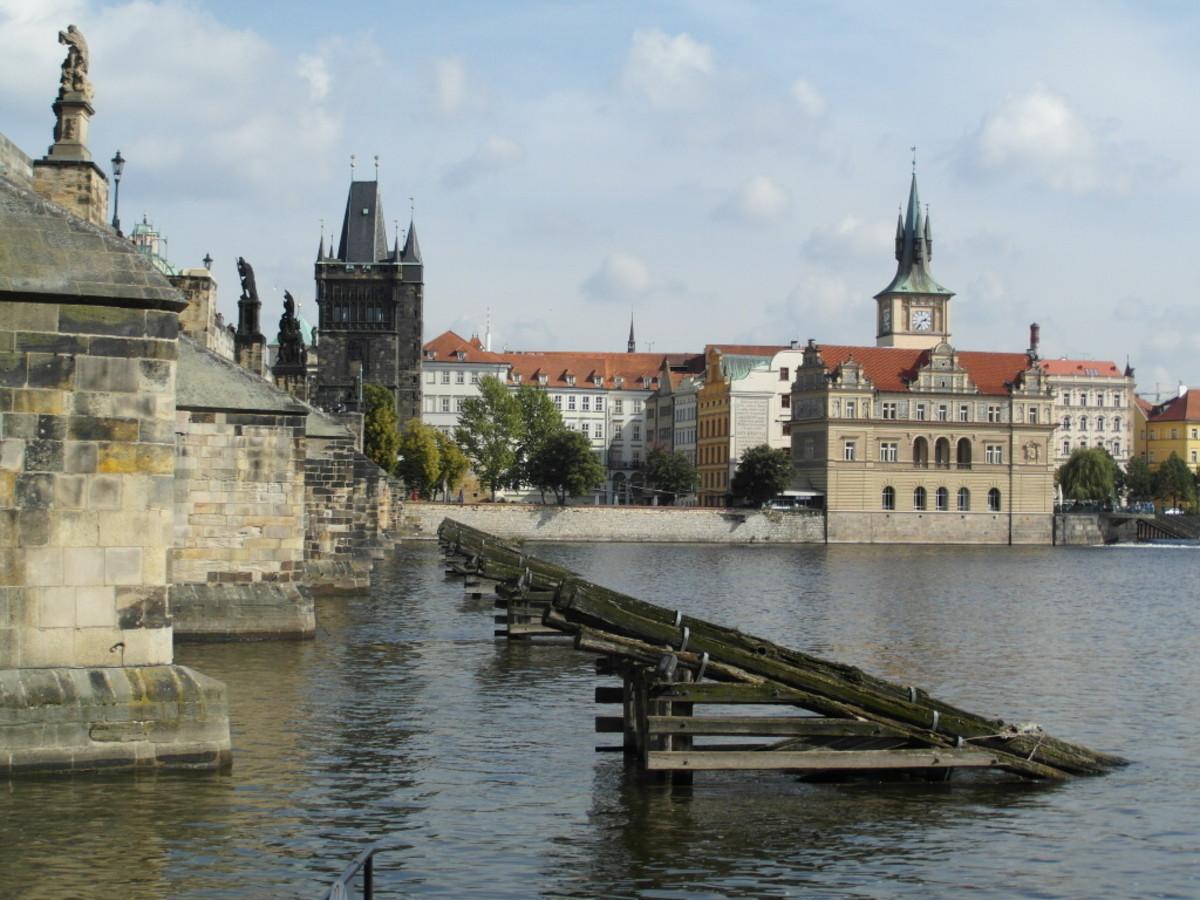 The Smetana Museum from the River Vltava.