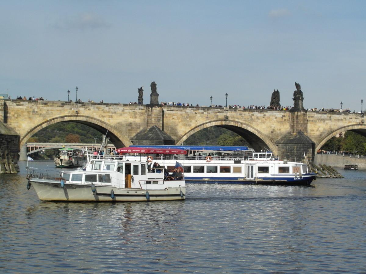 No shortage of boats on the Vltava.