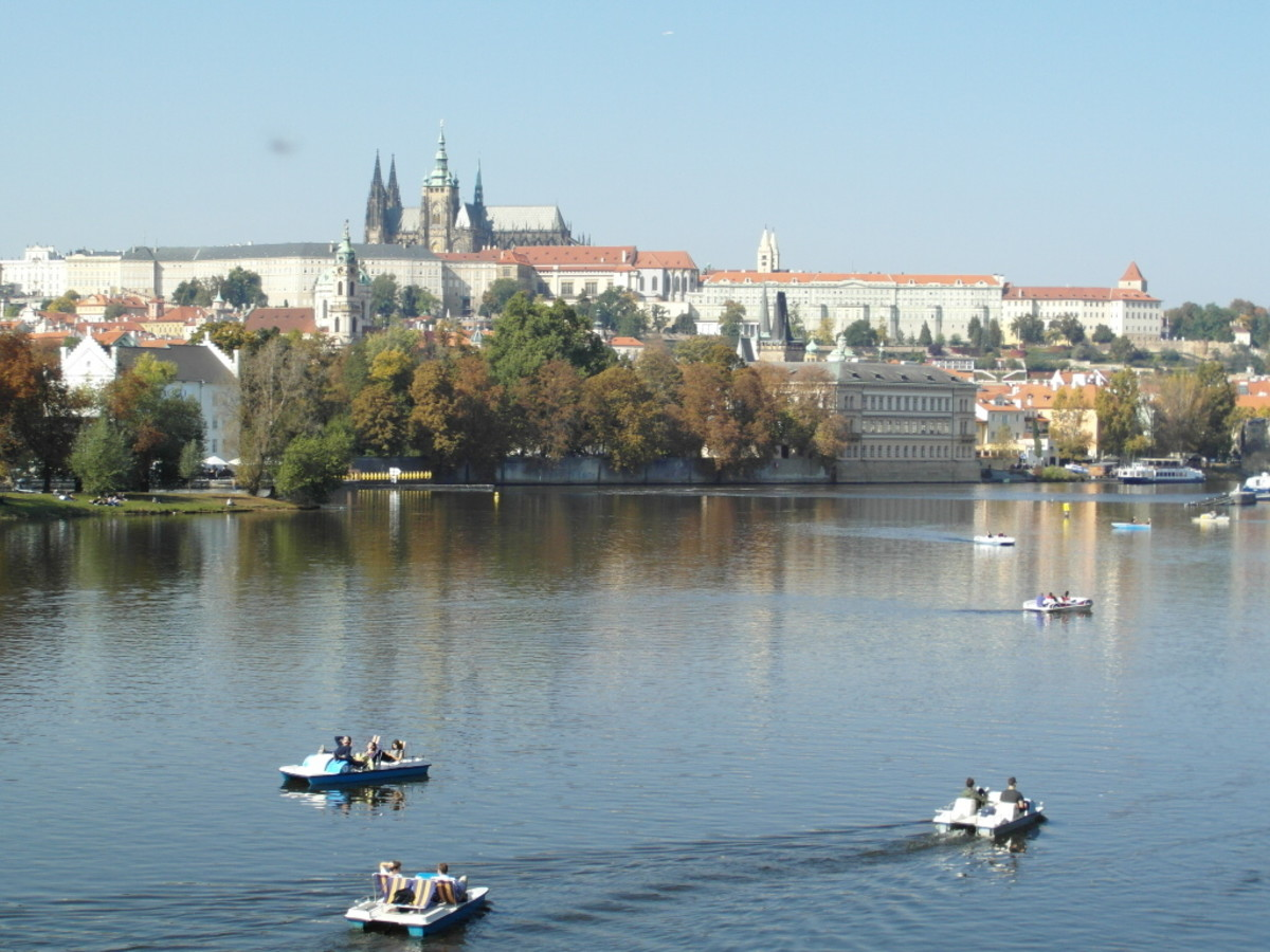 Pedaloes on the River Vltava.