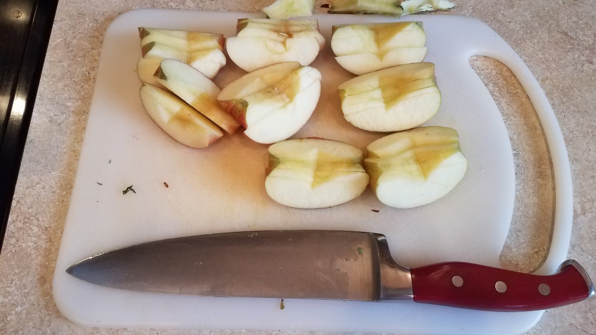 Slice up your apples.