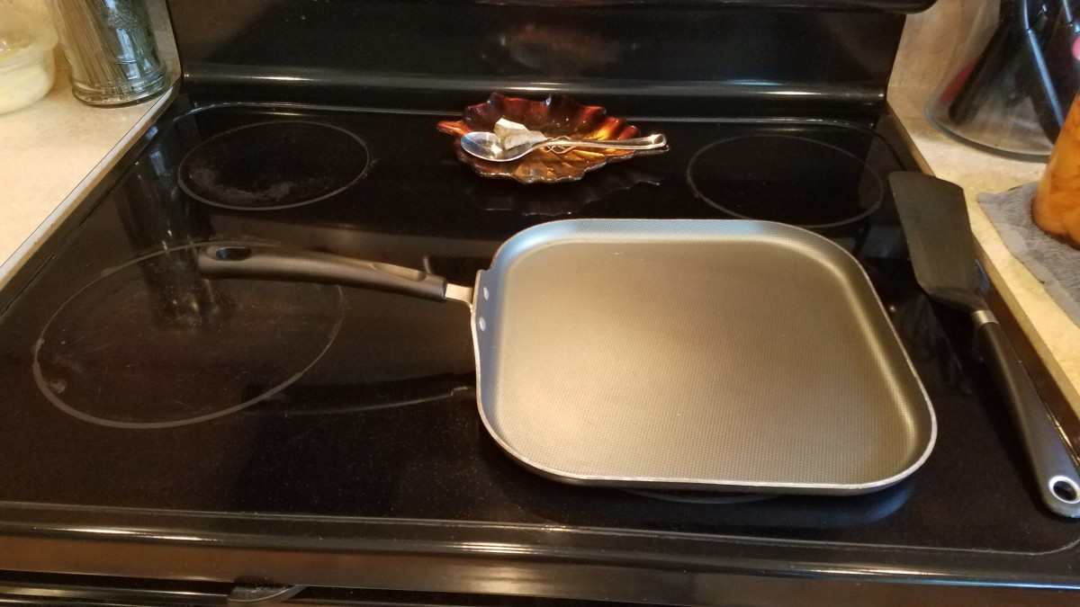 Heat your pan on the stove.