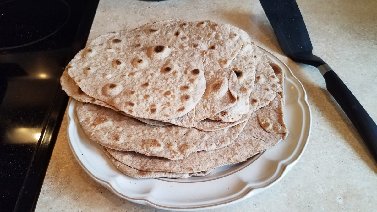 Homemade Whole Wheat Tortillas
