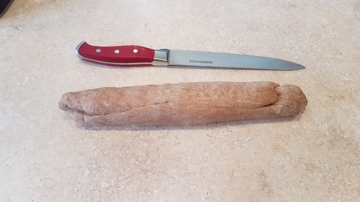 Roll your dough into a log.
