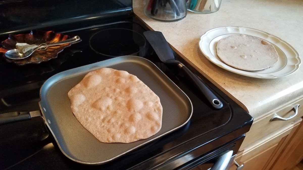 Then flip and cook for 10 seconds or so on the other side.
