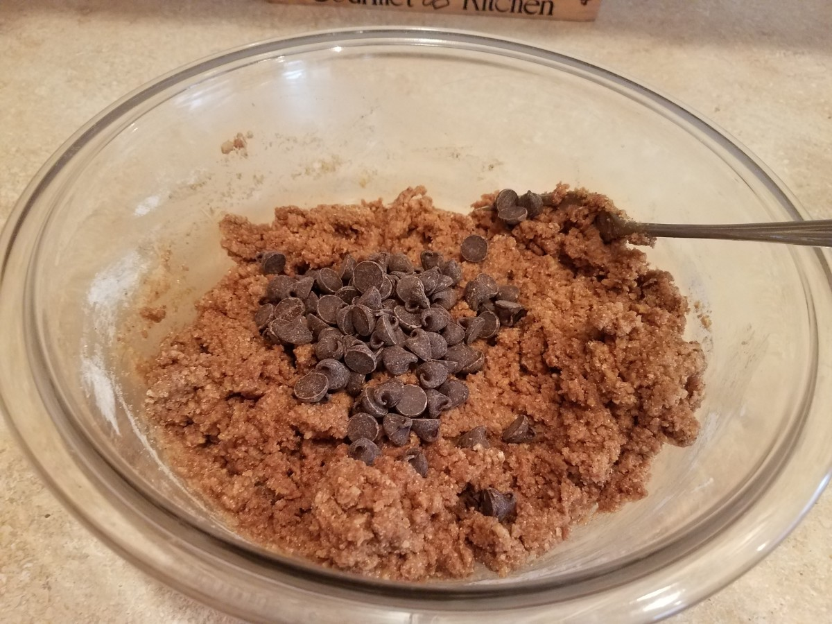 Step Four: Dump your chocolate chips in and fold in gently.