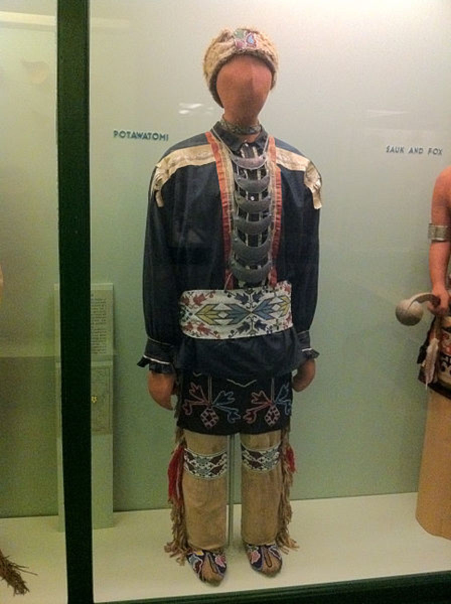 Potawatomi Clothing at the Field Museum, Chicago, Illinois. This is what the original Tonto in the first written manuscripts would have worn.