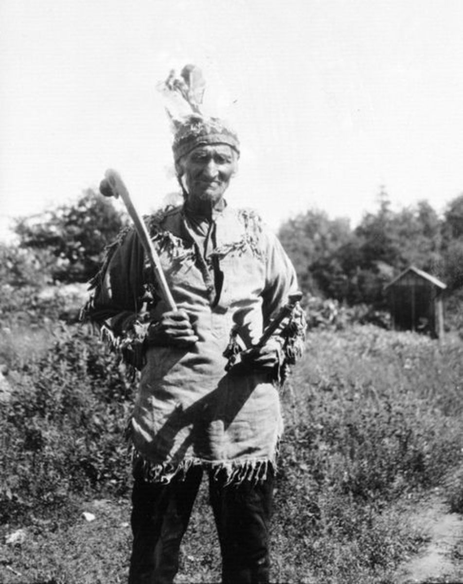 Dick King, Potawatomi [Parry Island, Ontario] in 1928. Photographer Fred Johnson began anthropological studies as a teenager with anthropologist Frank G. Speck (1881-1951) in Quebec.