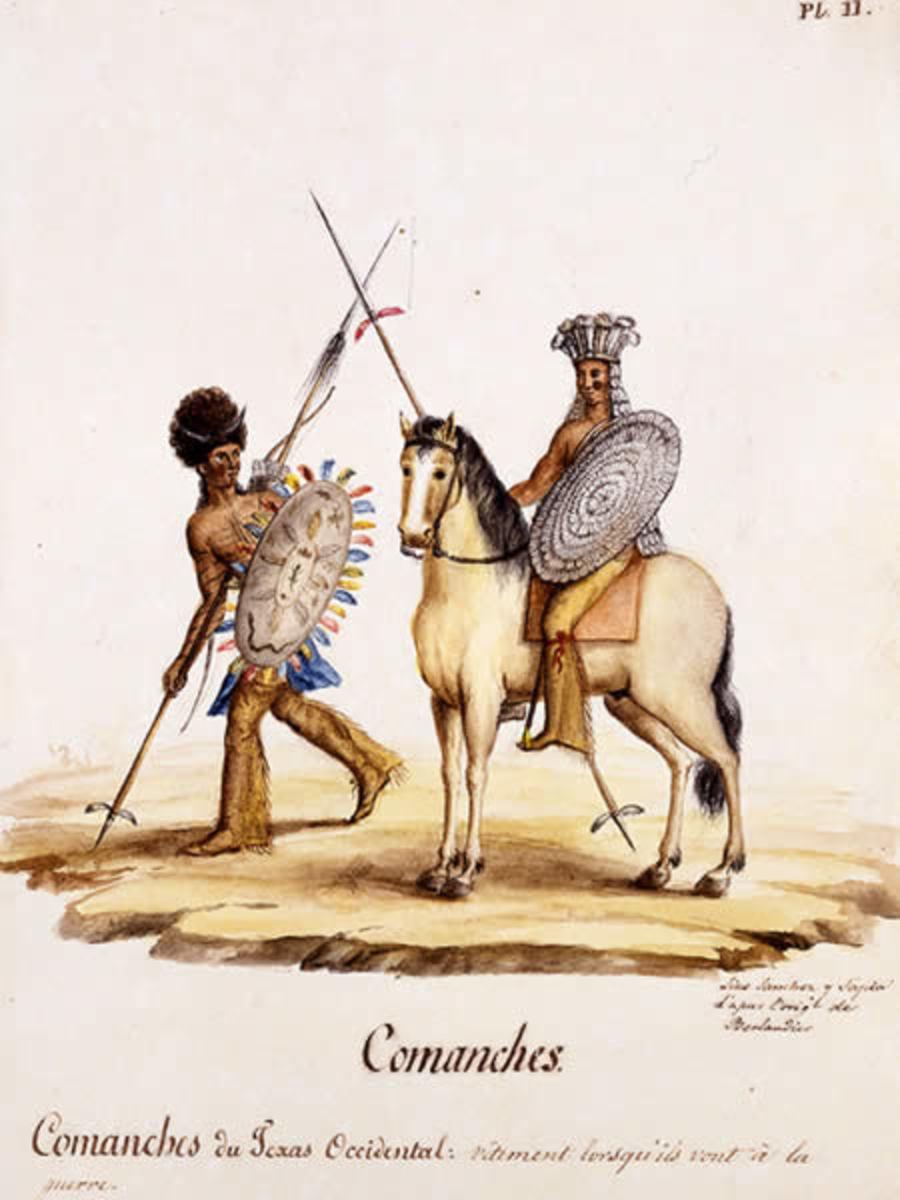 Comanche in war regalia.