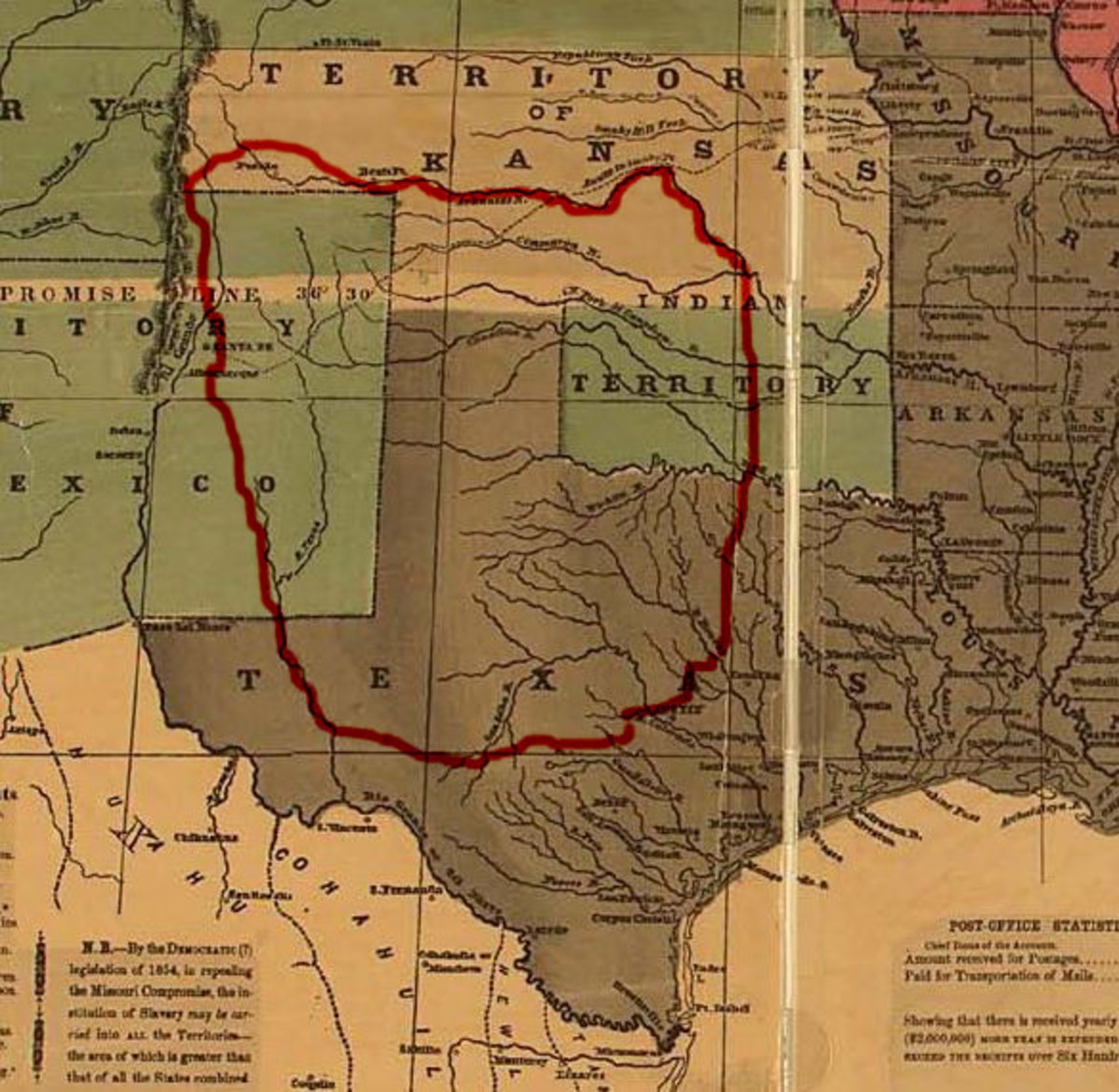 Former lands of the Comanche.