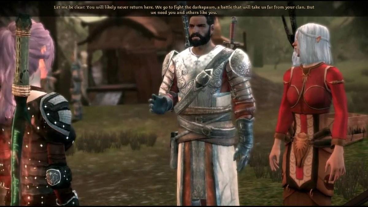 Duncan recruits the Dalish Warden.
