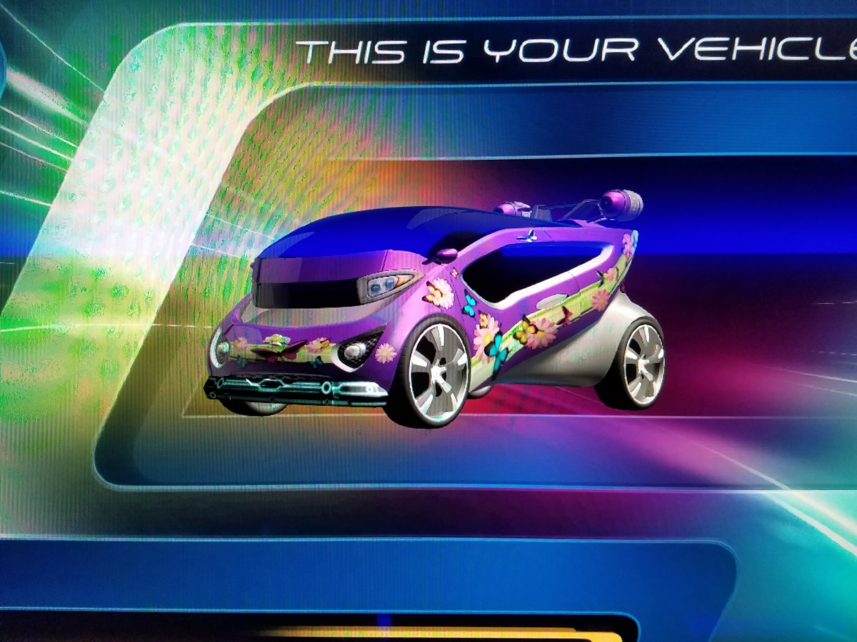 """The """"Pixie Duck"""", our Test Track car design"""