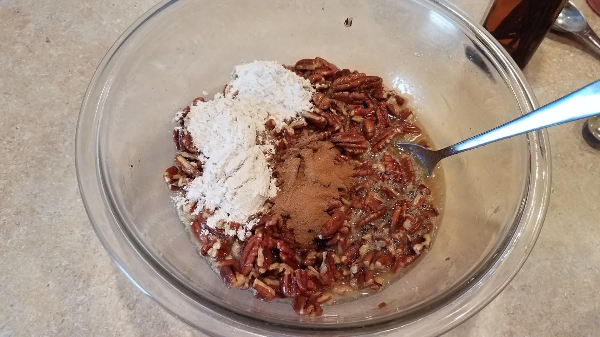 Cinnamon, vanilla, and flour.