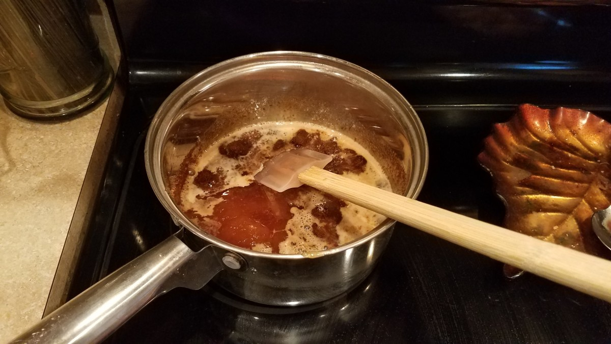Add your honey and stir around until melted.