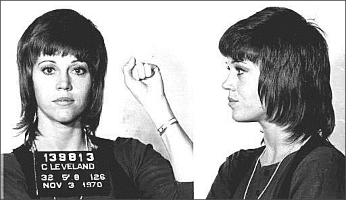 A not so flattering cut for Jane, aside from the fact it's her mug shot.