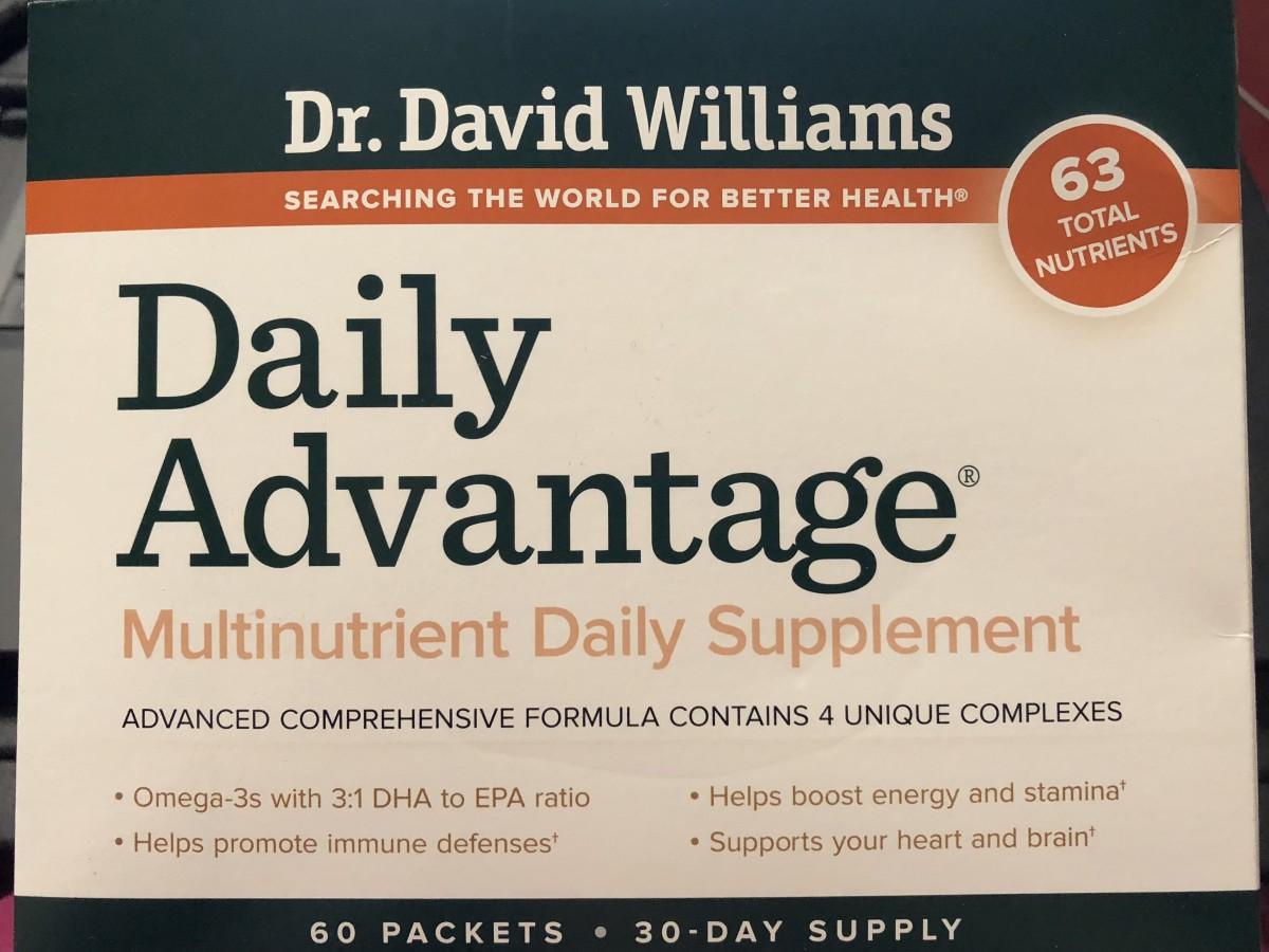 Dr. David Williams daily vitamin packs