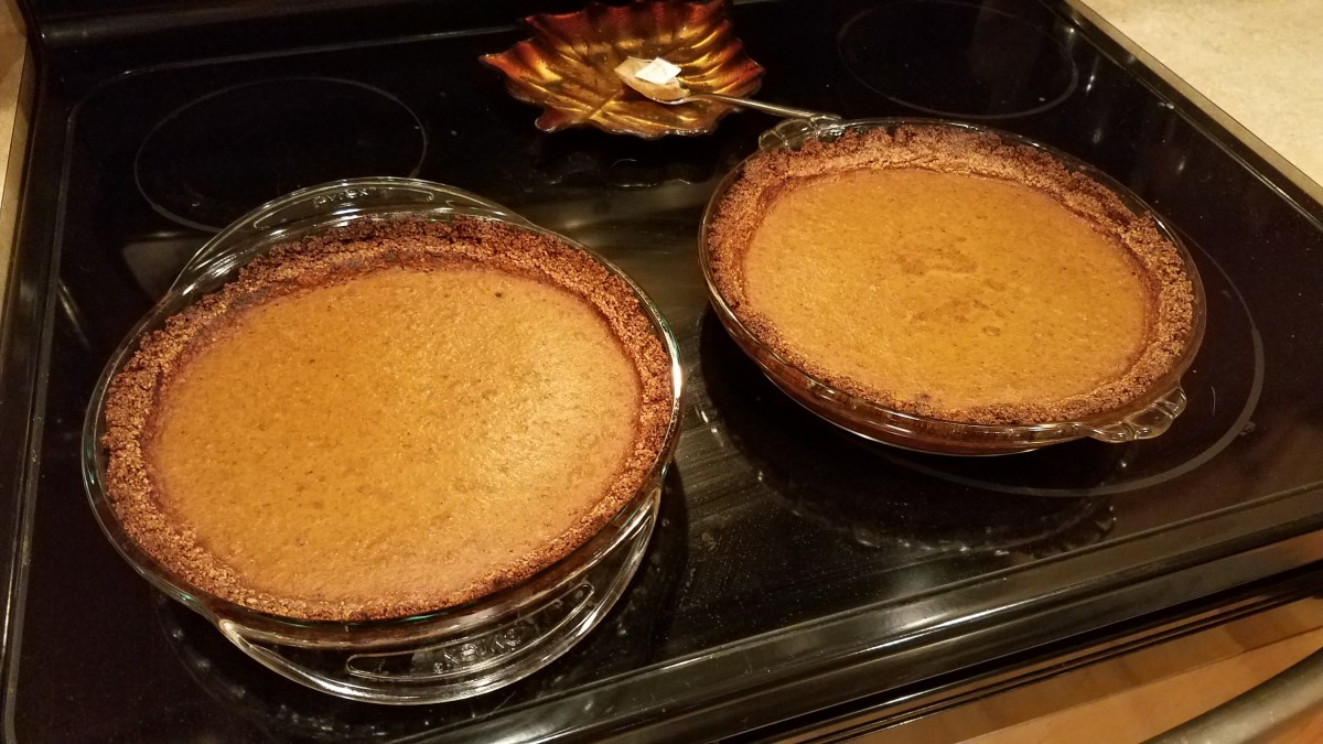 I made these pies with an almond crust, and then again with a flour crust. Both were pretty delicious.