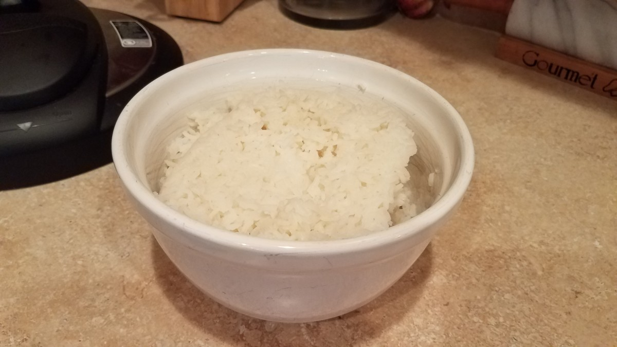 I made some rice on the side and served them together.
