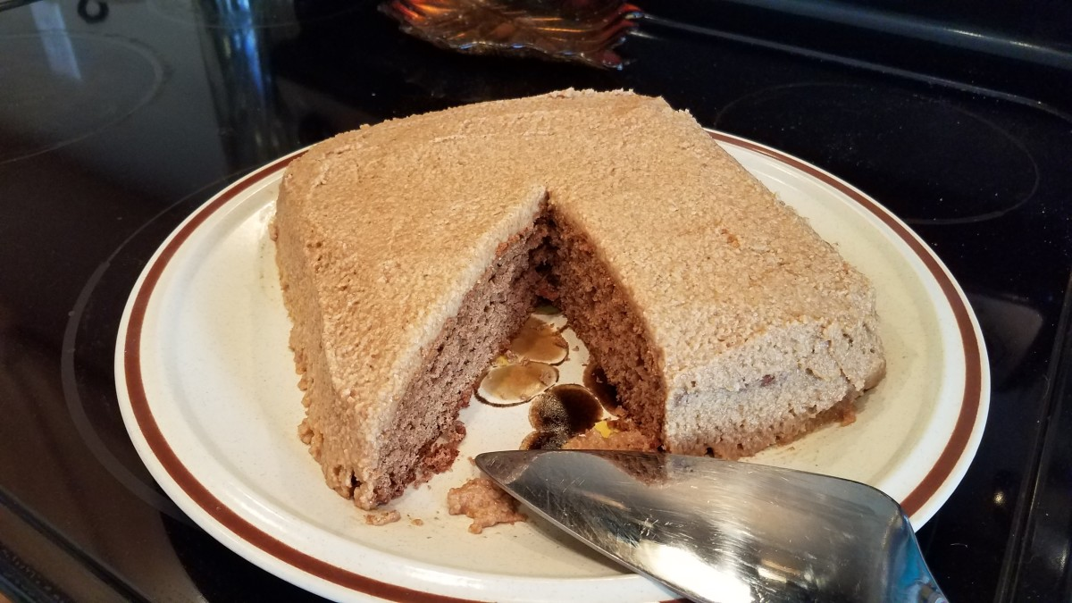 Homemade Apple Cinnamon Spice Cake With Caramel Apple Frosting From Scratch