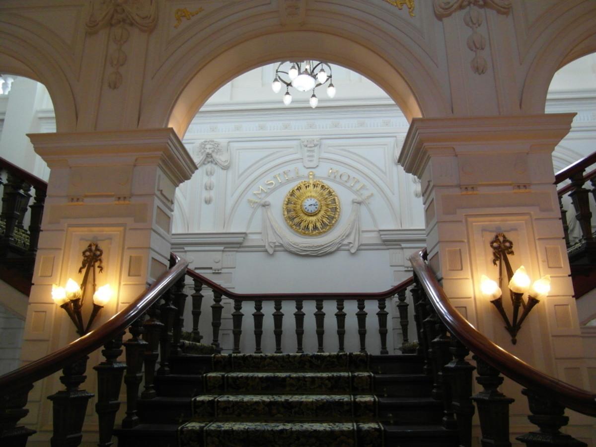 An impressive staircase.