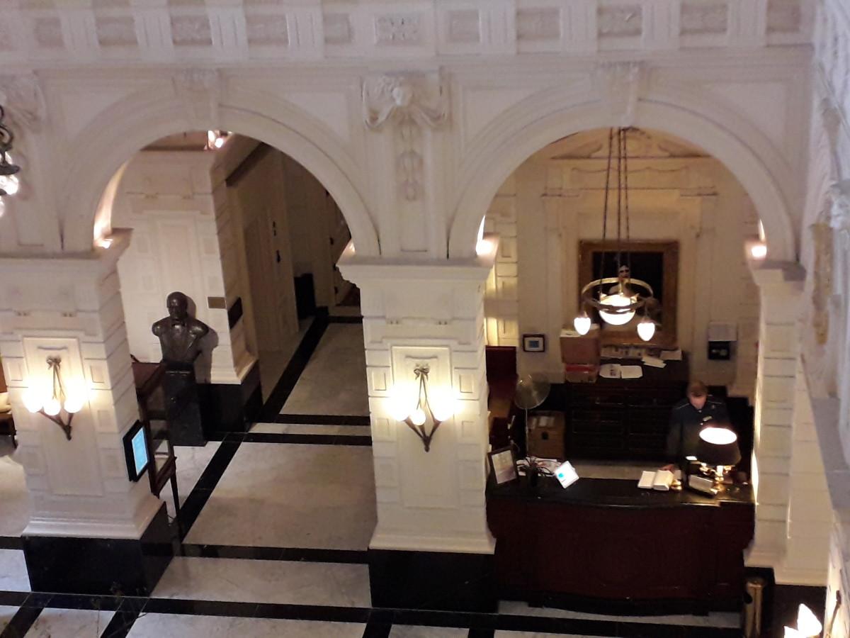 The concierge's desk.