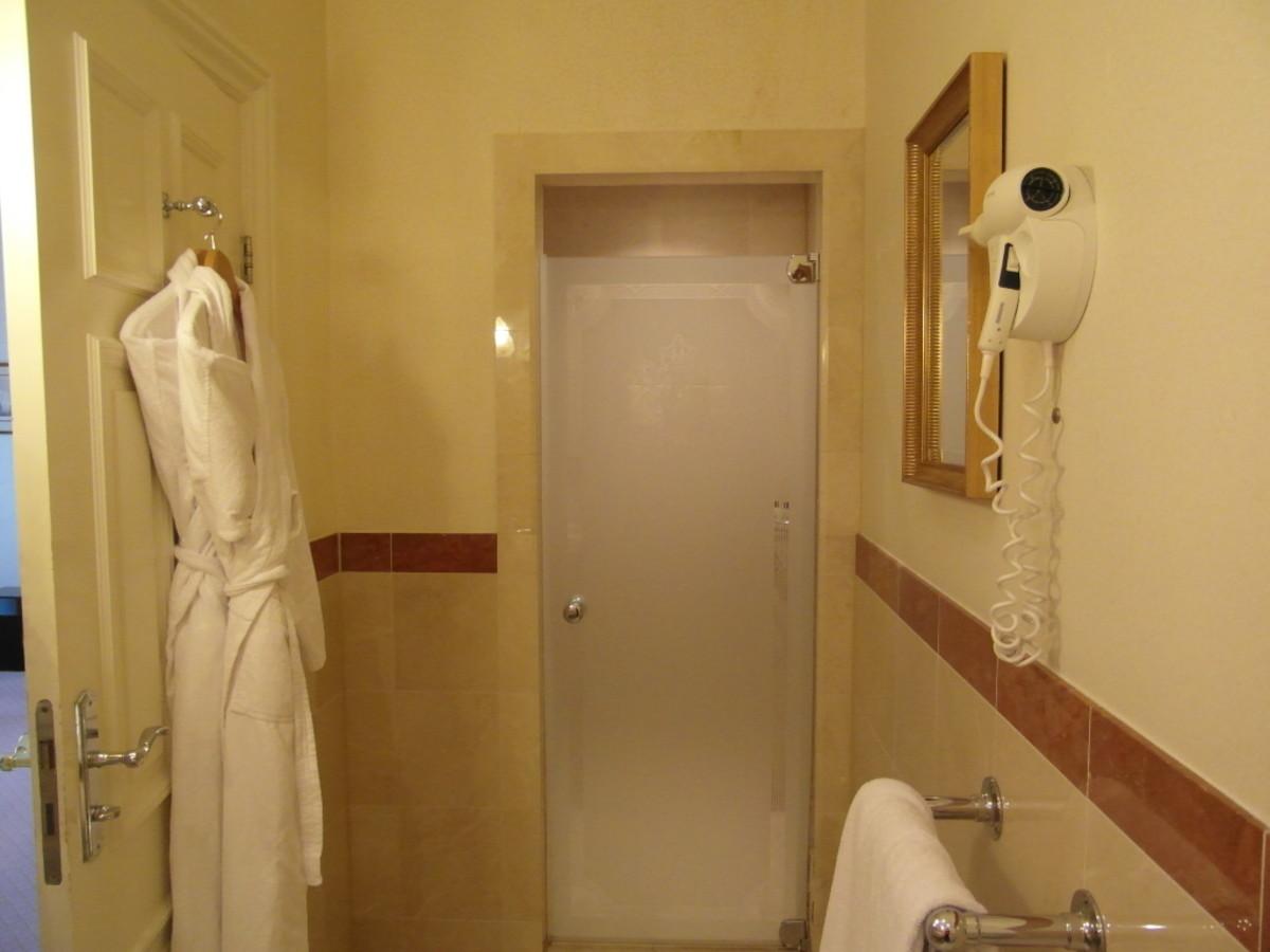 The door to the shower.