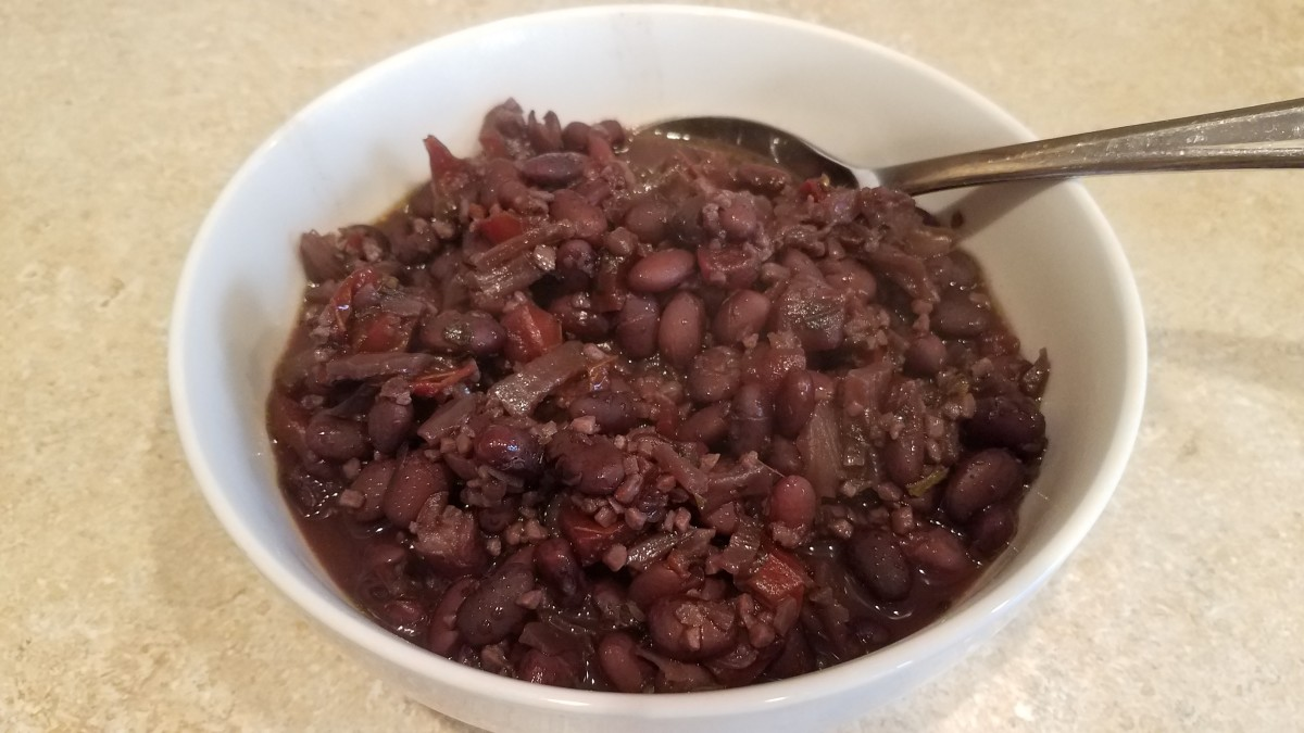 Homemade black bean soup.