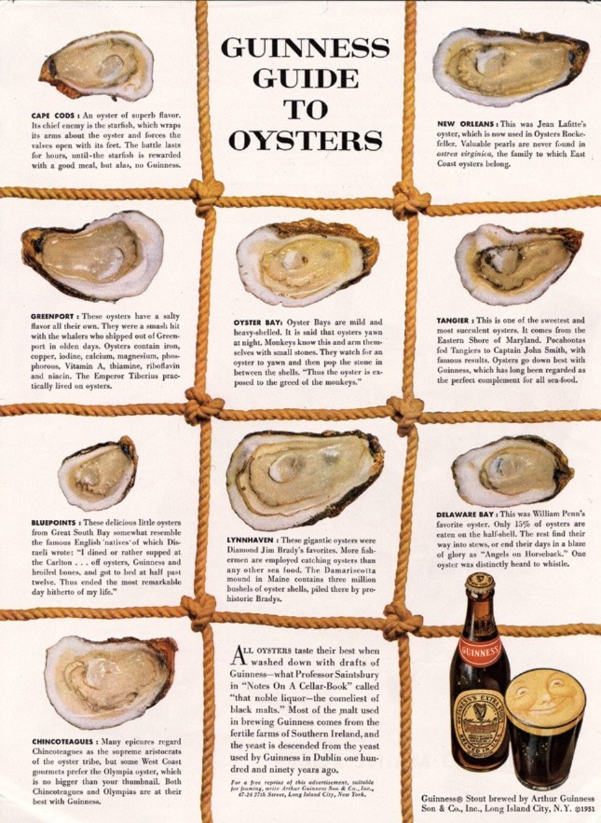 The most famous advertorial of all time - Guinness Guide to Oysters by David Ogilvy