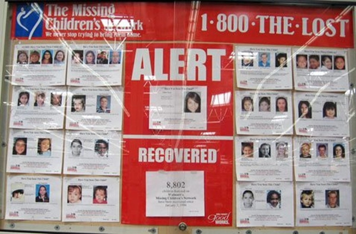 Missing Children's Network posters are in every Walmart throughout America.