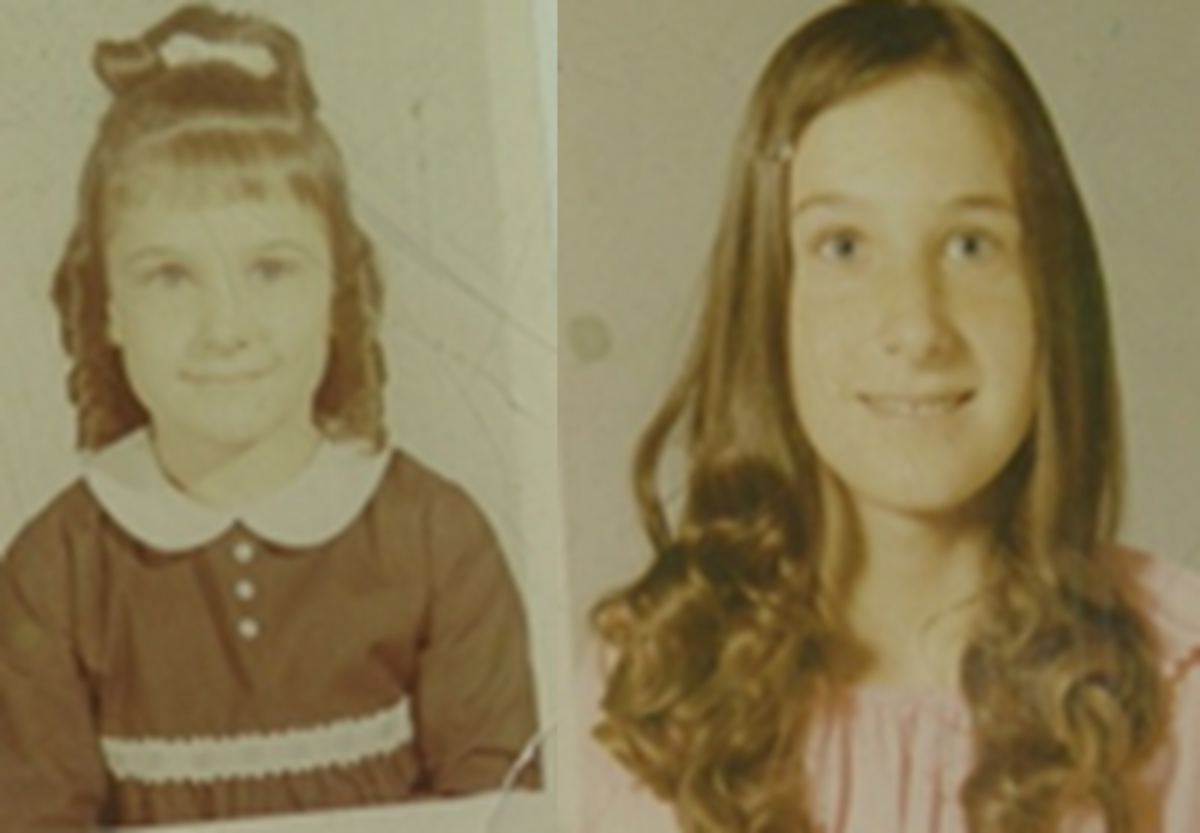 Cynthia (left) and Jackie (right), vanished from near their home in 1974. Photo courtesy of Erma Prue.