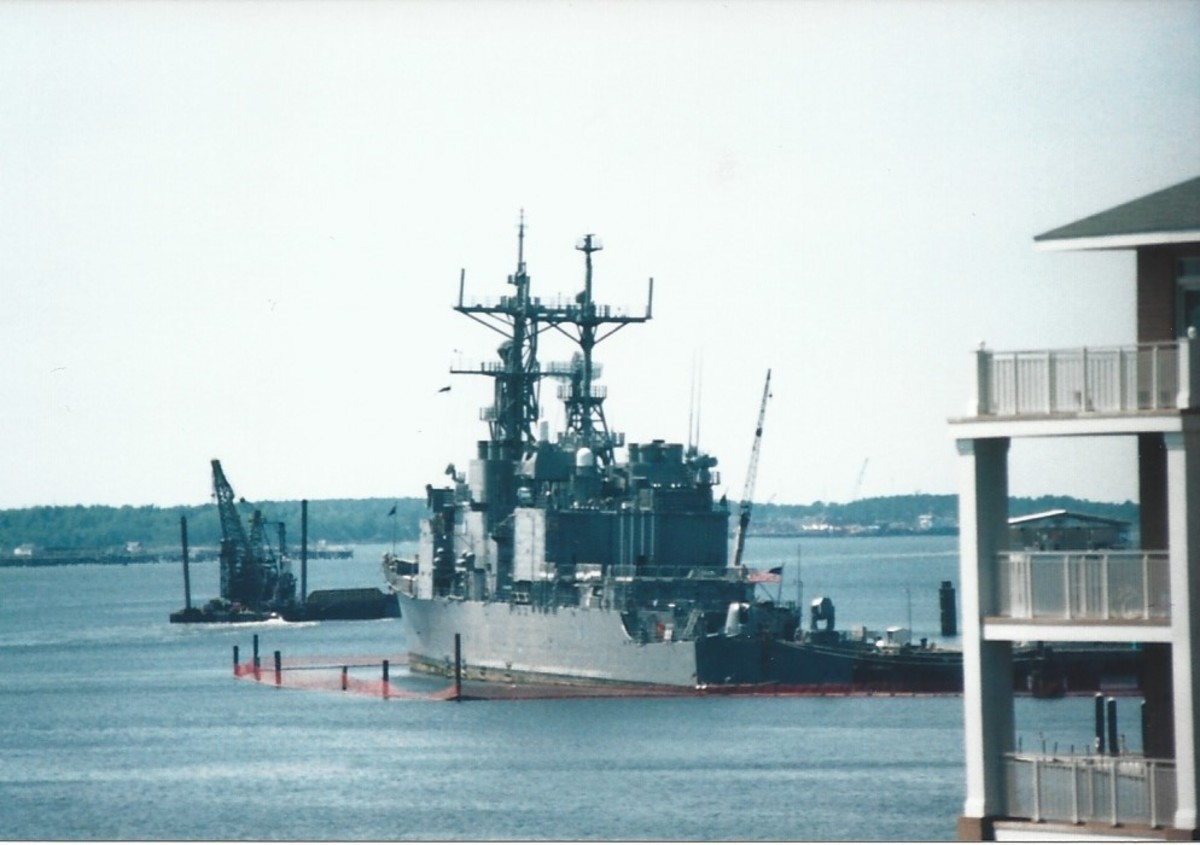 A US Navy Ship, Norfolk, VA