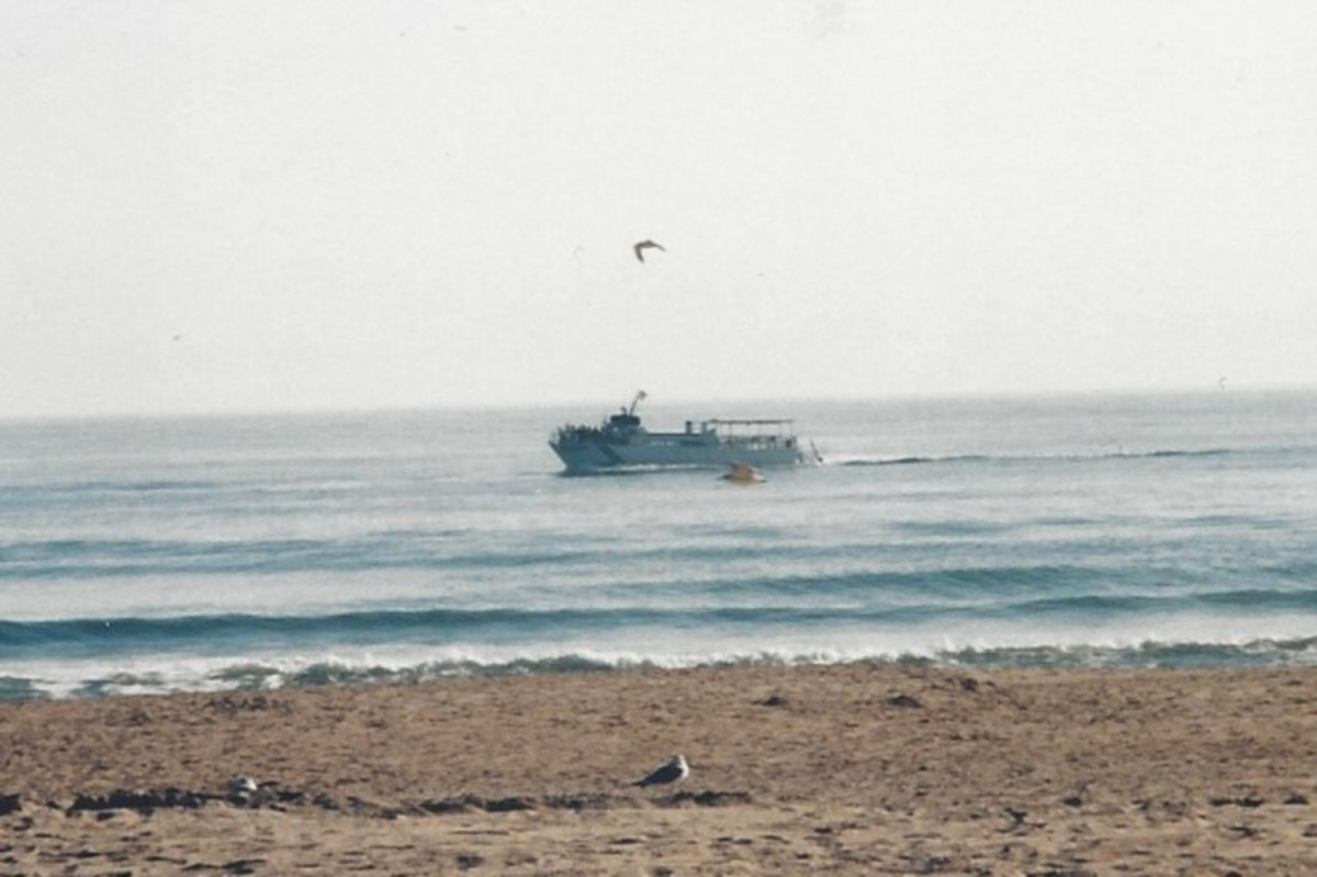A ship at Virginia Beach, November 2005.