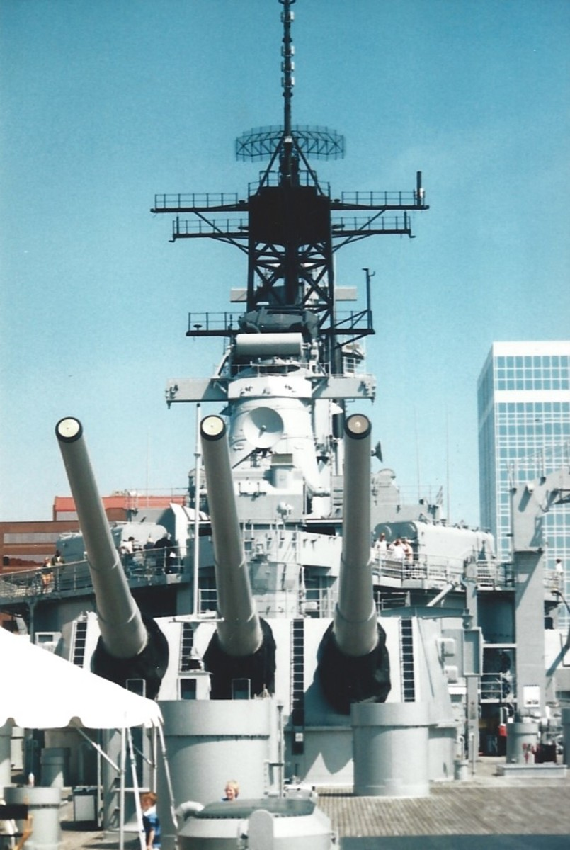 The USS Wisconsin, Norfolk, VA.