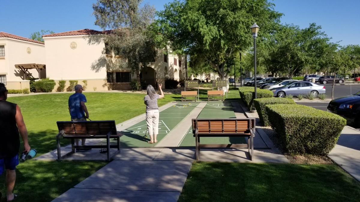 Shuffleboard courts are also available.