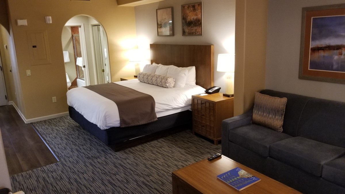 The room had a touch of sophistication but was extremely practical with a long list of features.